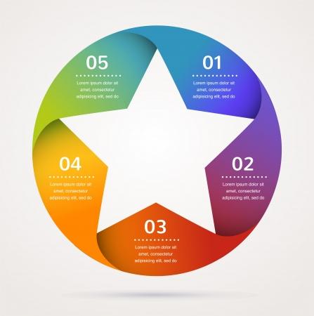 stern: Star-Design und Infografiken, abstrakten Hintergrund, Symbol Illustration