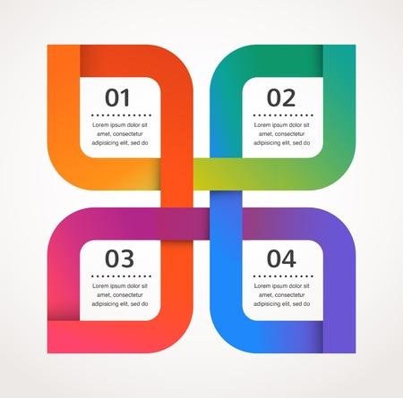 Abstraktní design a infografiky, pozadí, vektor, ikona