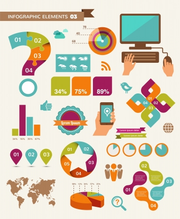 Elements and icons of infographics  Stock Vector - 20312689