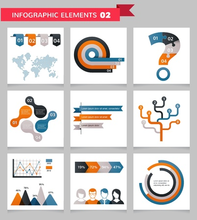 Elements and icons of infographics photo