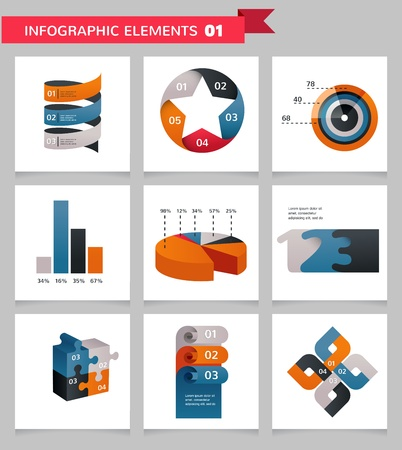 Elements and icons of infographics Stock Photo - 20880214
