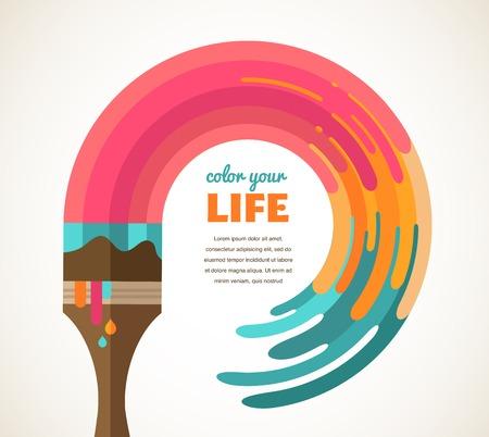 imaginacion: Dise�o, creativo, idea y concepto de ilustraci�n en color Foto de archivo