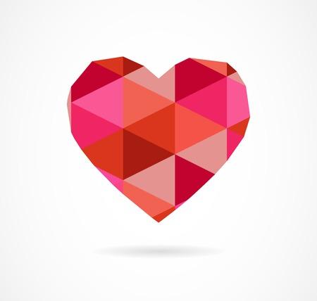 vector vintage geometric heart background Vector