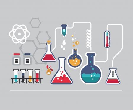 medical laboratory: Chemistry infographic set