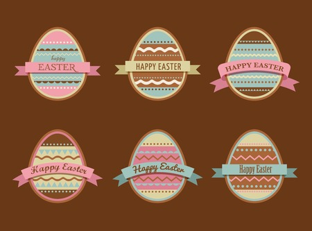 Happy Easter - set of labels, elements and icons set Vector