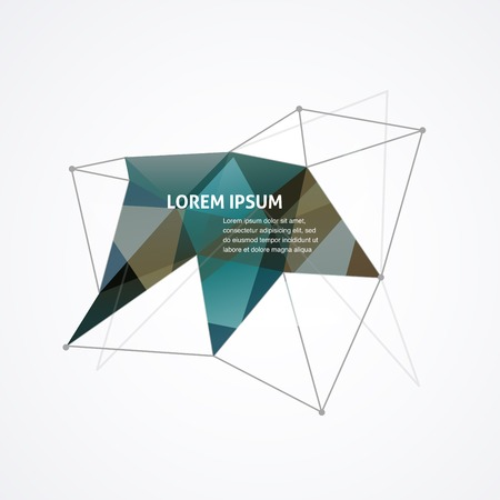 Polygonal geometric, vector 3D printing, abstract background Vector