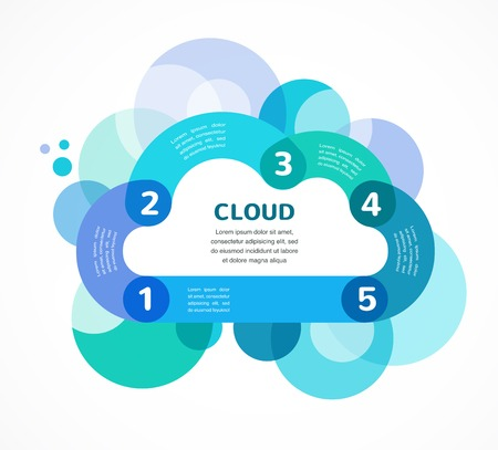 Cloud computing concept vector infographic background with icons Vector