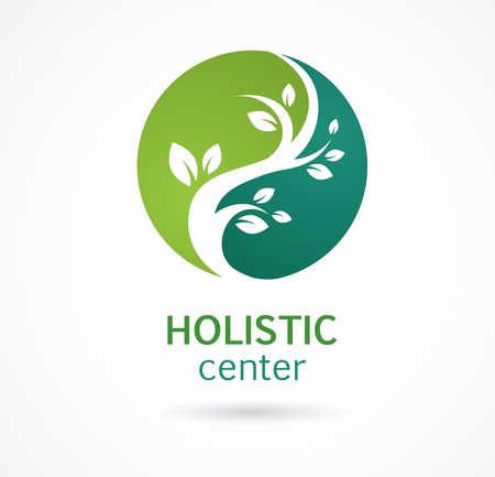 holistic health: Natural Alternative Herbal Medicine and Healthcare icon and element