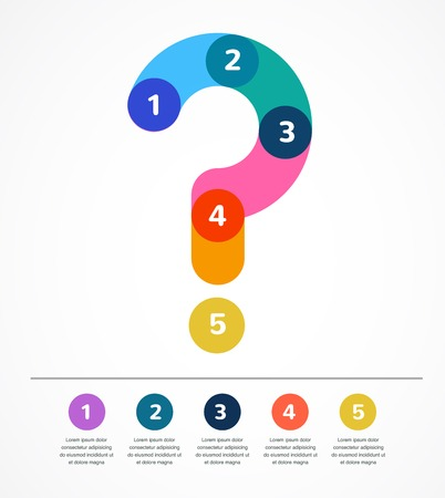 Question mark abstract background infographic Vector