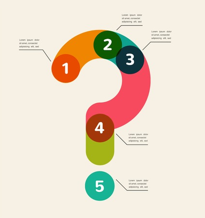 answer: Question mark abstract background infographic Illustration