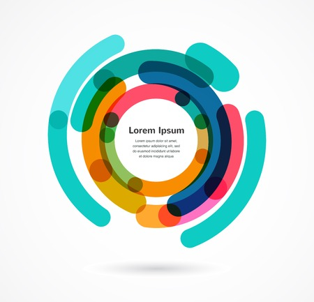 focus: Abstract colorful background infographic with copy space