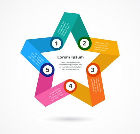 Abstract colorful background infographic with star and copy space Vector