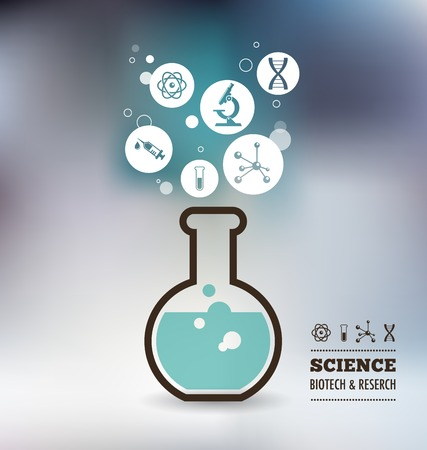 Research, Bio Technology and Science, Chemical laboratory infographic Illustration
