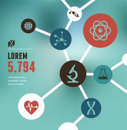 Research, Bio Technology and Science, Chemical laboratory infographic Vector