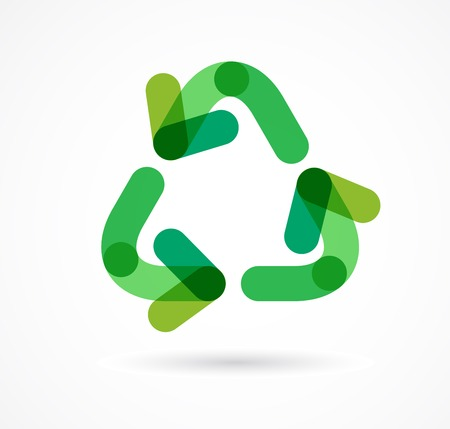 folio: green recycling icon and symbol