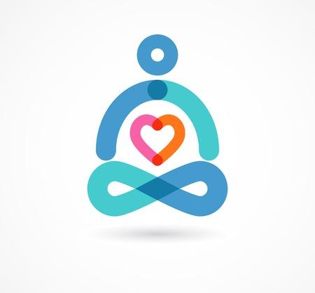 budha: yoga, zen, meditation icon, colorful element and symbol Stock Photo