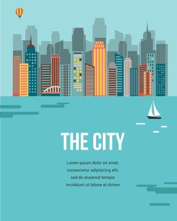 buildings city: City background Illustration