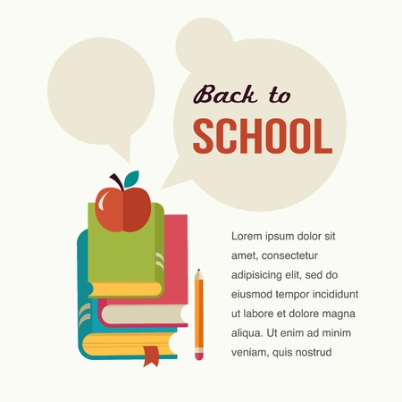back to back: Back to school, read the books, concept backgound