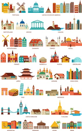 Homes from the world Vector