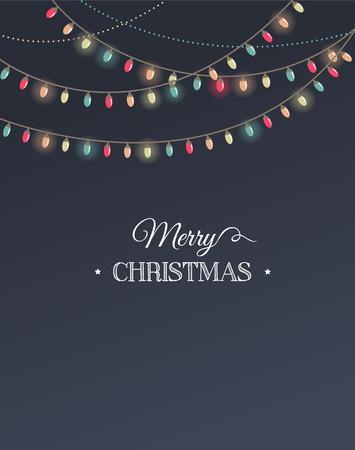 Vintage Christmas design with garlands