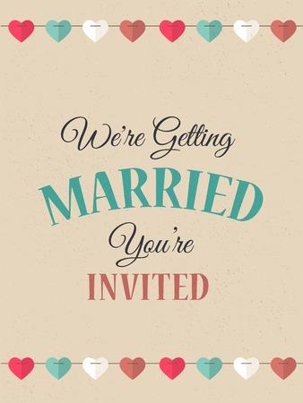 Wedding invitation card - Vintage background Vector