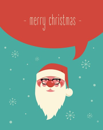 Christmas design with Santa and speech bubble Vector