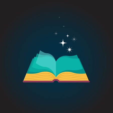 manos abiertas: Diseño de concepto de libro abierto