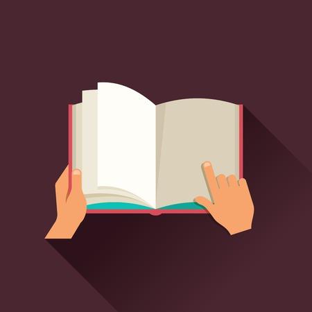 開いているブックのコンセプト デザイン  イラスト・ベクター素材