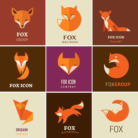 Fox iconos, ilustraciones y elementos Foto de archivo - 37673770