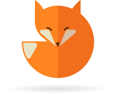 red squirrel: Fox icon, illustration and element