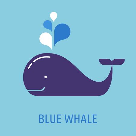 クジラ吹き出しアイコン  イラスト・ベクター素材