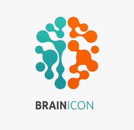 mente humana: Cerebro, creación, icono de la idea y el elemento