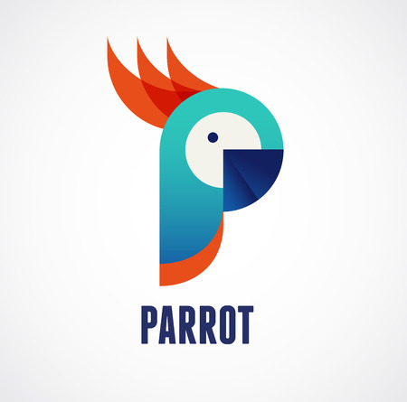 Tropical birds - parrot