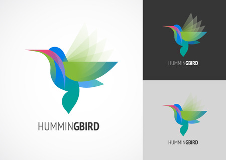 flamenco ave: Pájaro tropical - icono vectorial tarareando