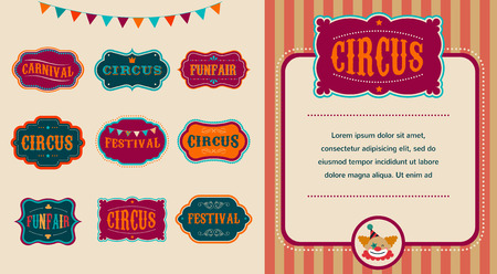 sign: Vintage Circus labels set