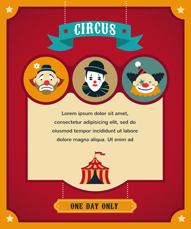 circus poster: vintage circus poster, background with carnival