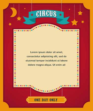 circo: cartel del circo del vintage