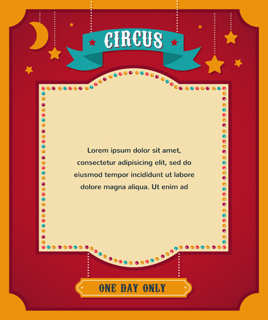circus elephant: vintage circus poster