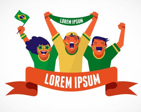 Groep Braziliaanse voetbalfans