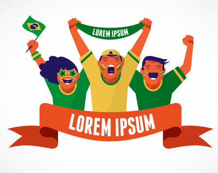 to soccer: Grupo de aficionados al f�tbol de Brasil
