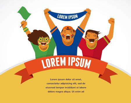 Group of sport fans Illustration
