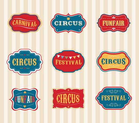 Vintage Circus labels set