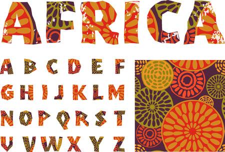 아프리카 - 알파벳 패턴