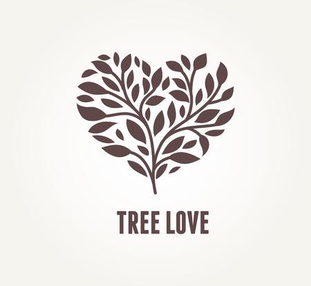 Baum-Herzen - Vektor-Icon-