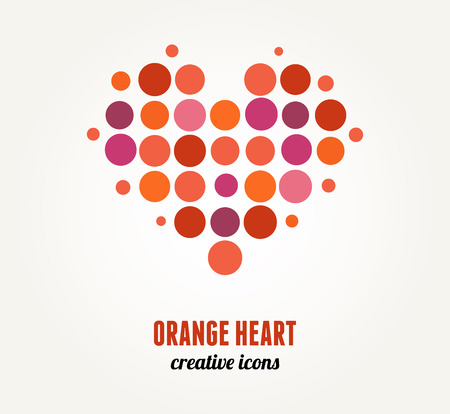 abstract family: Vector red heart