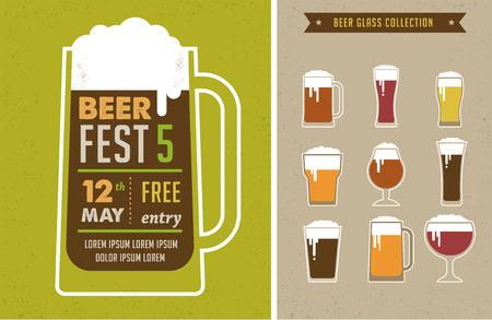 Cartel Festival de la Cerveza de la vendimia Foto de archivo - 39589111