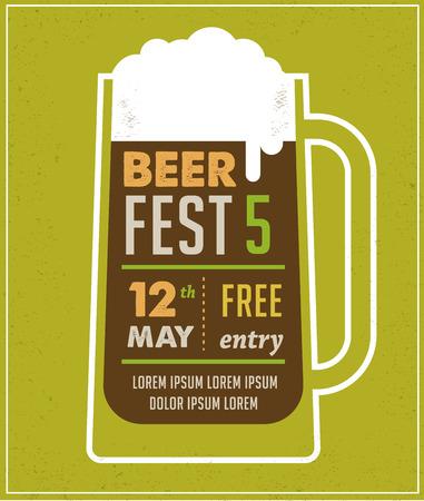 Beer Festival vintage poster Vector