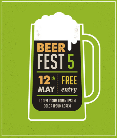 祭: ビール祭りのビンテージ ポスター