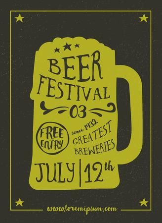 beer festival: Beer Festival vintage poster