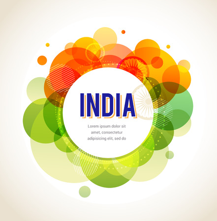 indian animal: Independence and Republic Day of India. Vector background